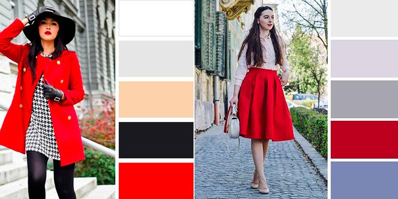 cómo combinar un vestido rojo navidad