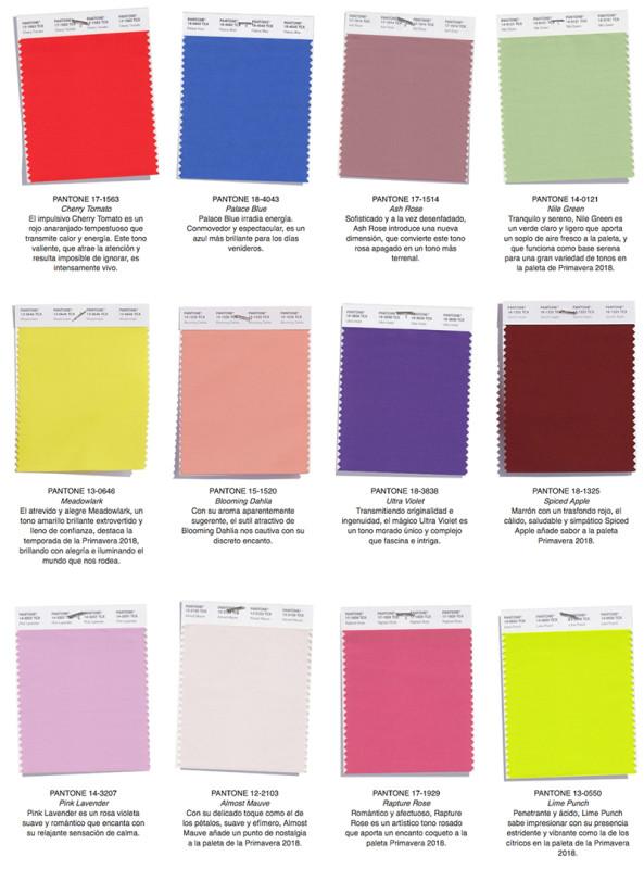 colores de moda 2018 pantone
