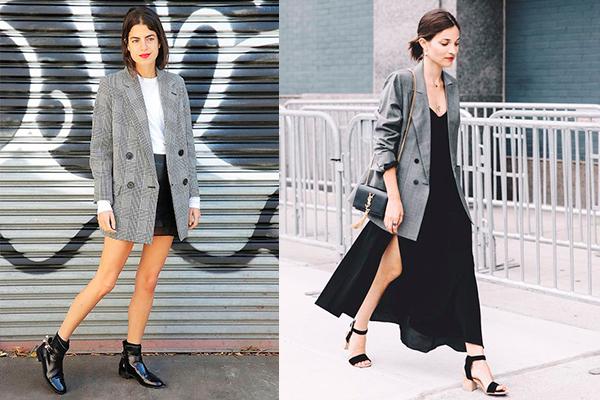 combinar blazer con vestido