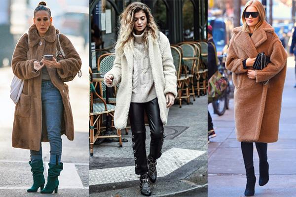 abrigo de peluche invierno