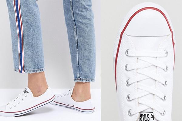básicos de moda zapatillas blancas