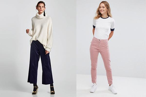 cómo combinar prendas de pana pantalones