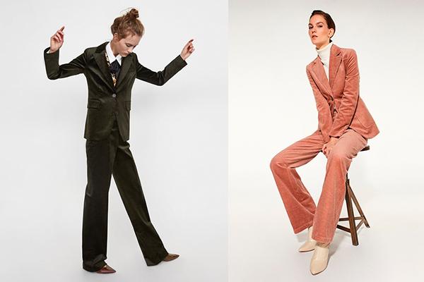 cómo combinar prendas de pana trajes