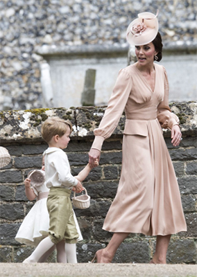 vestido de invitada nude kate middleton