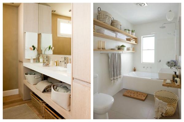 armarios altos en baño pequeño