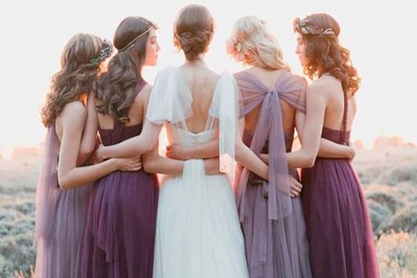 cómo se viste la hermana de la novia y damas de hono