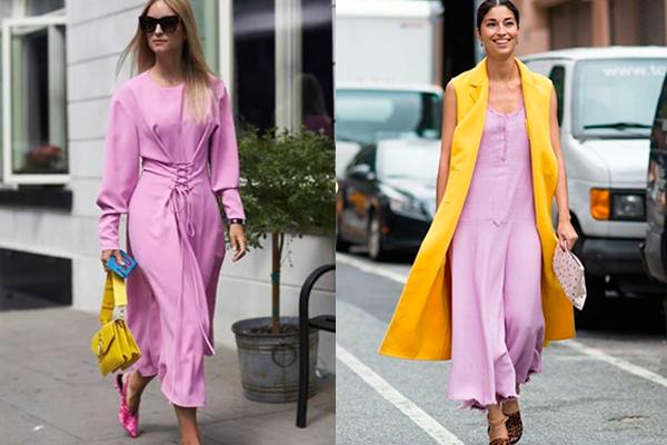 cómo combinar el color lavanda en la ropa