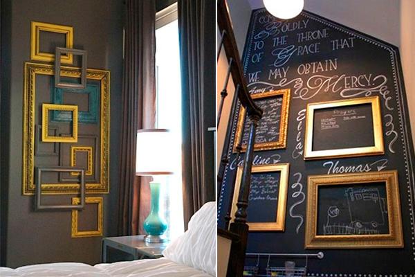 decorar las paredes con cuadros vacíos