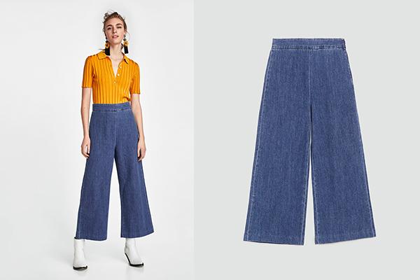 pantalones de zara culotte