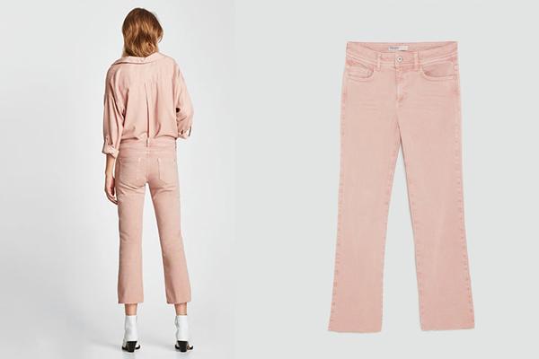 pantalones de zara rectos