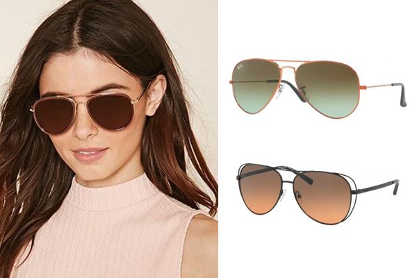 tendencias en gafas de sol verano aviador