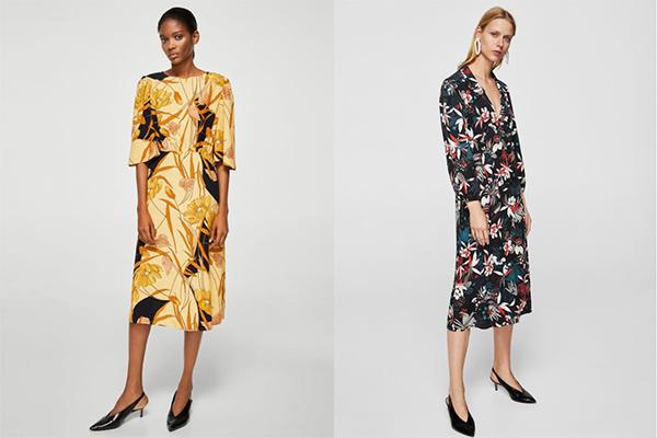 vestidos de invitada de zara y mango mujer