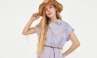 cómo combinar un vestido camisero-de-rayas