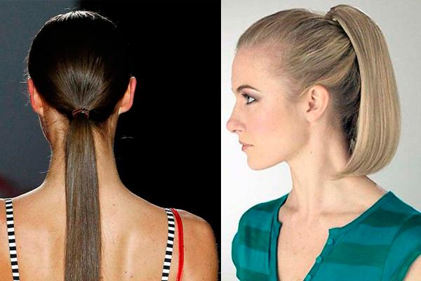 peinados con planchas coleta