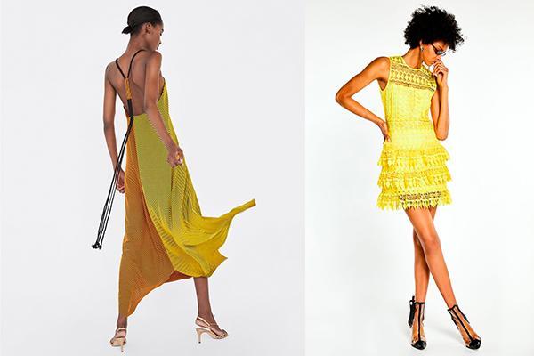 vestidos de verano amarillo