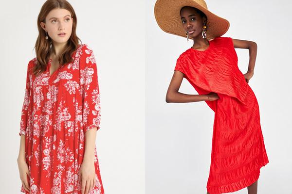 vestidos de verano rojo