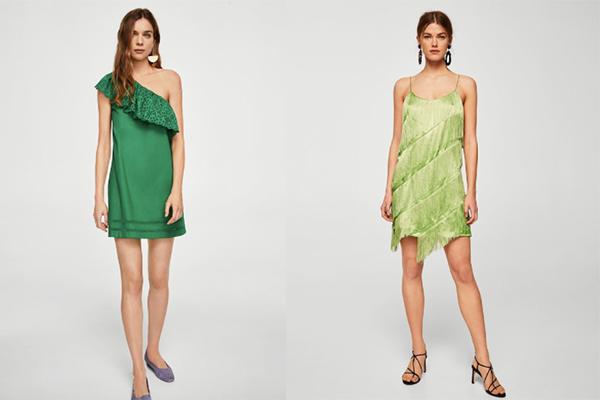vestidos de verano verde