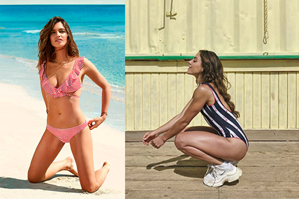 bañadores y bikinis de rayas verano