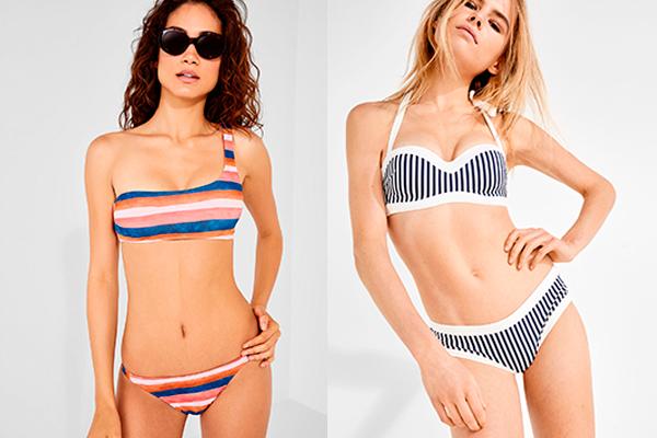 bañadores y bikinis de rayas ws