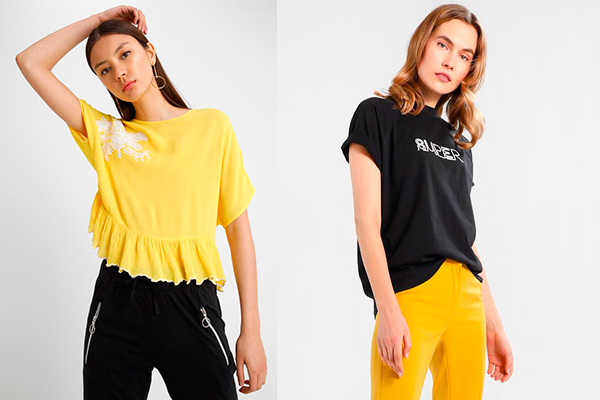cómo combinar el color amarillo zalando