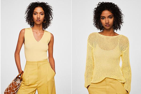 como combinar el color amarillo mango