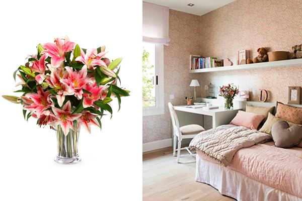 decorar con flores lirios
