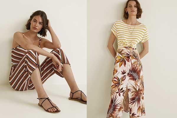 moda otoño de mango prints