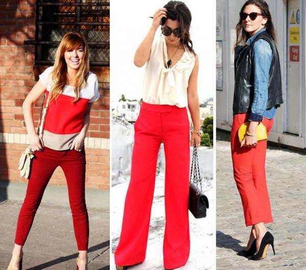Como Combinar Pantalones Rojos