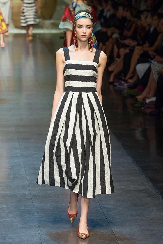 Zapatos para vestido blanco con rayas negras