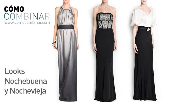 Como combinar un vestido negro para nochevieja